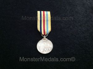 MINIATURE SUEZ CANAL ZONE MEDAL IN SOLID SILVER (COMMEMORATIVE)